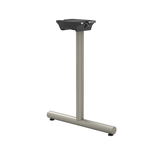 "Tubular T-style Folding/Flip-Top Table Base, 27-3/4"" Height, 18"" Base Spread, 2"" diameter Columns with adjustable Levelers. - Replacementtablelegs.com"
