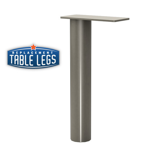 "Upper Cabinet Support Post, Surface Mounted, 18-1/4"" height,  2'' diameter. - Replacementtablelegs.com"
