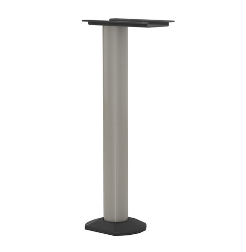 "Surface Mounted Table Base, 27-3/4"" Height, 3"" diameter Column, with Floor Plate - Replacementtablelegs.com"