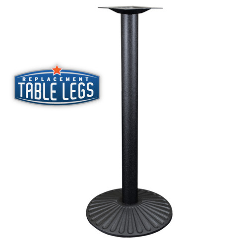 """Cast Iron Sun Table Base, 22"""" Round Base Spread, 41"""" Height, 3"""" diameter column with Cast Iron Base and 9"""" top plate"""