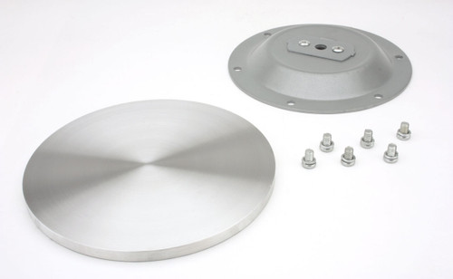 Rostek GL220 aluminum glass table top adapter shown with all included parts for installation.