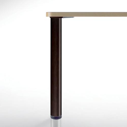 "Heidelberg Table Leg, Matte Black, 34-1/4"" length, 3"" diameter, 1-1/8""adjustable ABS plastic foot - replacementtablelegs.com"