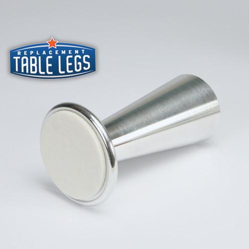 Sedona Style 2, Matte Aluminum, 4'' Cabinet Leg - replacementtablelegs.com