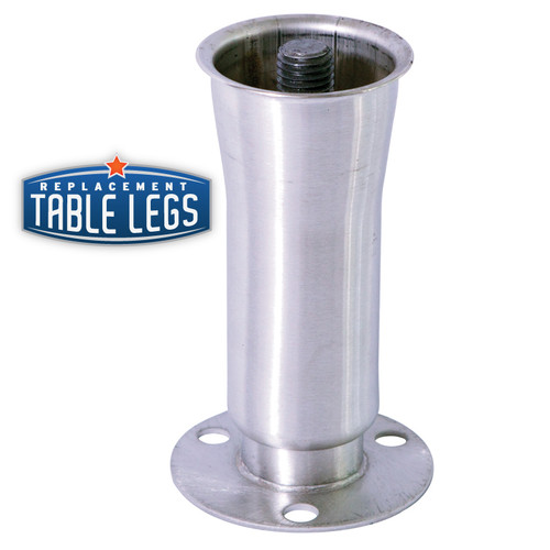 Heavy Duty Flared Counter Leg, 304 Food Grade Stainless Steel, 6'' height - Replacementtablelegs.com