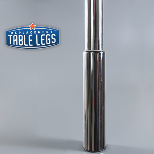 Chrome Studio Telescoping Table Leg metal cover - replacementtablelegs.com