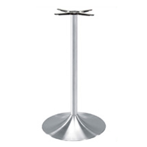 "TRUMPET TABLE BASE, Palermo Line, Aluminum, 42-1/2"" height, 22"" base spread, 2-5/8""diameter column - replacementtablelegs.com"