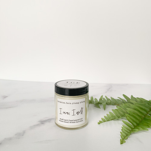 4 Oz Jasmine Fern Ylang Ylang Candle from The Grace Effect