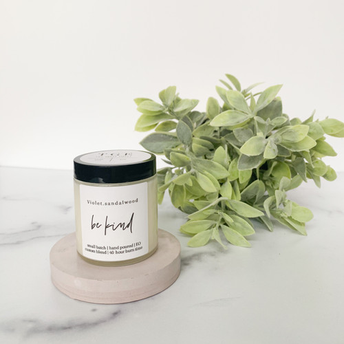 4 Oz violet sandlewood Candle from The Grace Effect