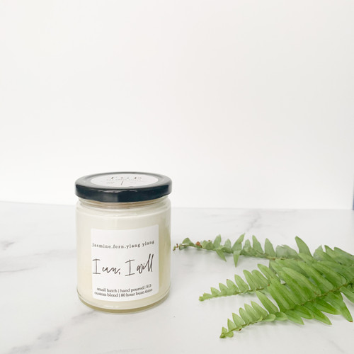 The Grace Effect jasmine fern ylang ylang 9oz soy candle nontoxic