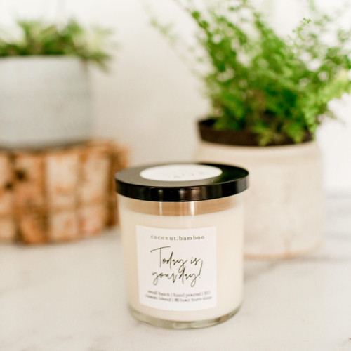 Coconut + bamboo 100% soy candle