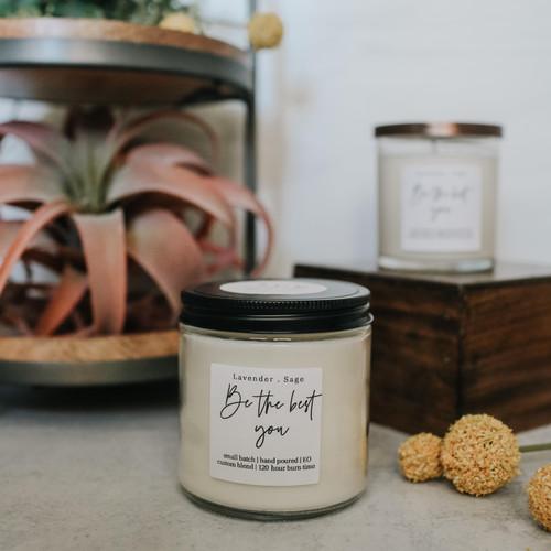 lavender + sage - 100% soy candle