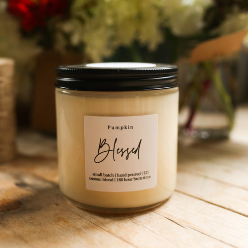 Pumpkin candle 100% soy - The Grace Effect