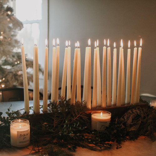 wood candle holder - The Grace Effect