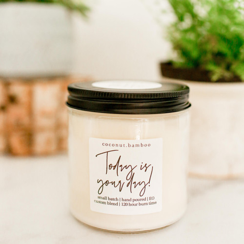 coconut + bamboo 100% soy candle The Grace Effect