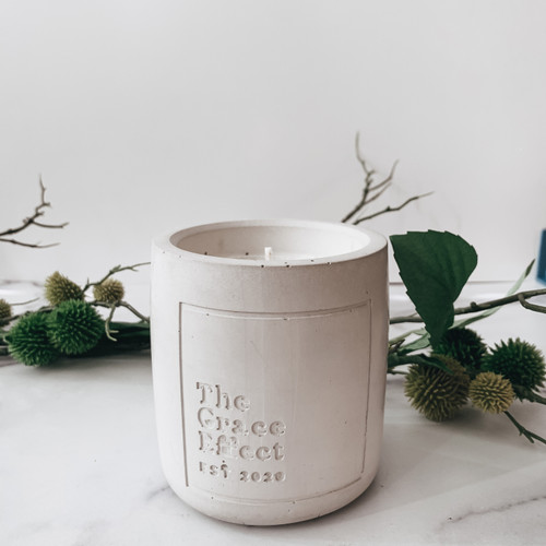 Cement vessel the Grace effect clean highly scented 16oz candle