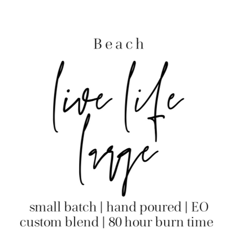 Beach clean burning candle The Grace Effect