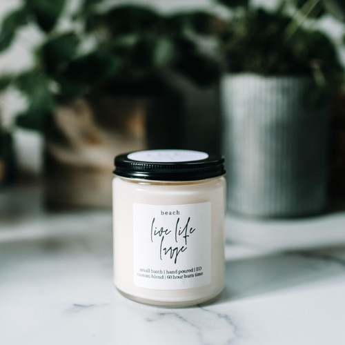 the grace effect beach 100% soy candle