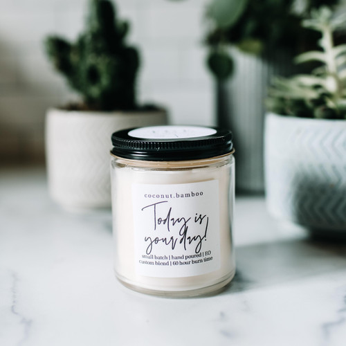 The Grace Effect, coconut bamboo, 100% soy, vegan candle