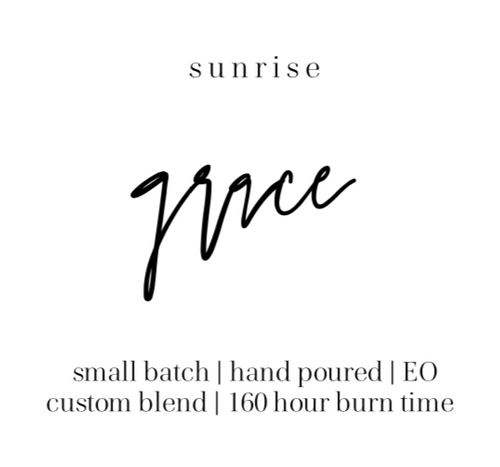 Sunrise, the grace effect candle, 100% soy