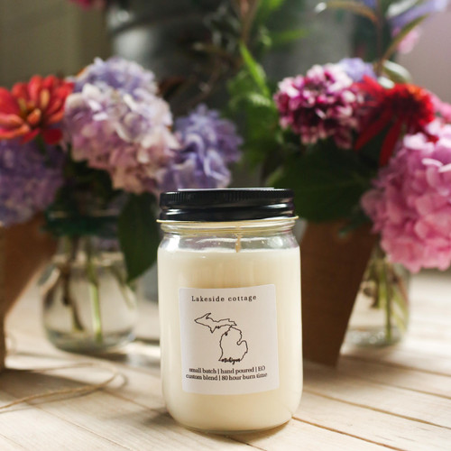 Lakeside cottage, The Grace Effect, Soy candle, Pure Michigan