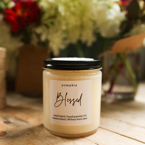 Pumpkin, Vanilla, 100% soy candle, The Grace Effect