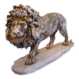 Gorgeous Hand Carved Lion Sculpture at The Crabby Nook