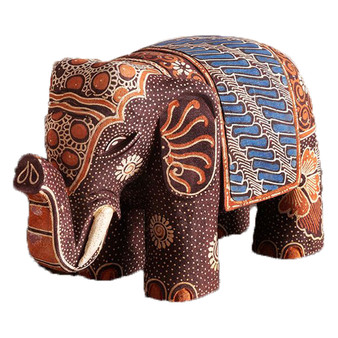 brown batik elephant