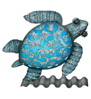 metal glass sea turtle wall decor