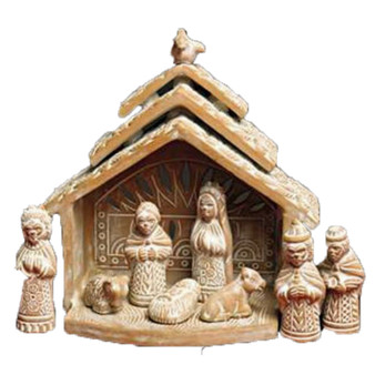 terracotta nativity