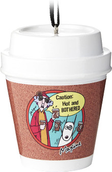 maxine hot and bothered coffee travel cup ornament