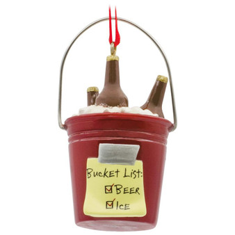 beer bucket list ornament