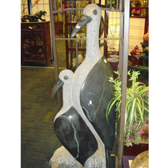 Shona Sculpture African Art Stone Birds Statue Collectible