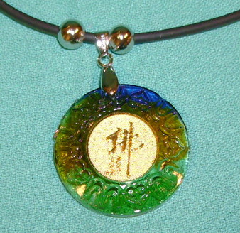 Necklace Asian Art Colored Glaze Round Design Gift Ideas
