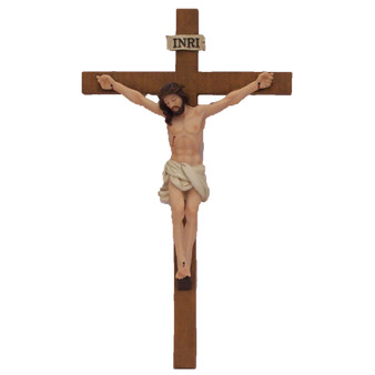 Jesus on the Cross Crucifix Religion Statue 11.5 Inch Ht Wall Hanging