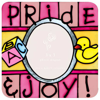pink pride joy photo magnet