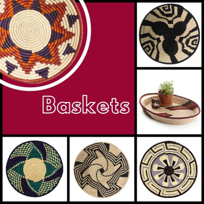 Decorative African Basket are Great Decor Accents
