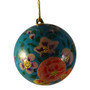hand painted blue ornament