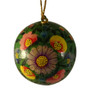 hand painted green ornament