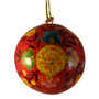 hand painted red ornament