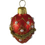 embellished pearl red ornament