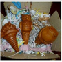 The Crabby Nook Terracotta Potted Plant Watering Stakes w Small Frog Rain Gauge