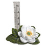 The Crabby Nook Terracotta Potted Plant Watering Stakes Frog Shell Owl w Small Lotus Rain Gauge