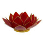 cherry red lotus candle holder
