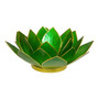 emerald green lotus candle holder