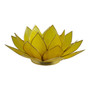 yellow lotus candle holder