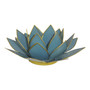 sky blue lotus candle holder