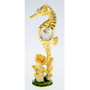 gold plated seahorse figurine