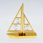 gold plated sailboat figurine with swarovski crystals