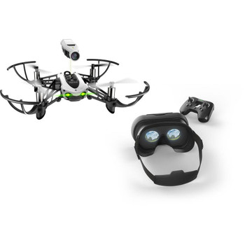 PARROT MAMBO FPV MINI DRONE W/ FPV CAMERA, COCKPIT GLASSES 2, FLYPAD, POWER BATTERY