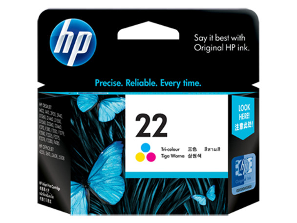 HP 22 Ink Cartridge Tri- Colour